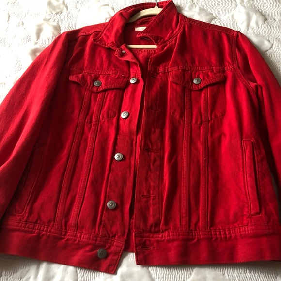 cheapest cheap prices the sale of shoes Red h & m Jean jacket